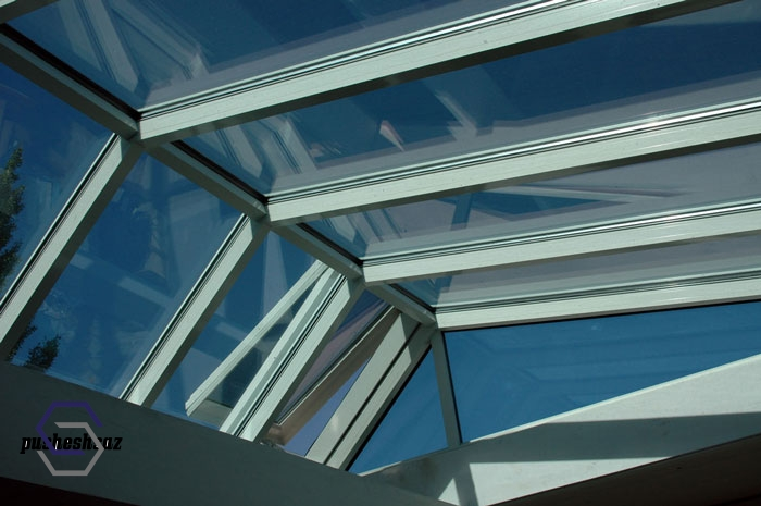 سقف نورگیر پاسیو و حیاط خلوت