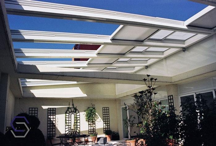 نورگیر سقف متحرک شیشه ای