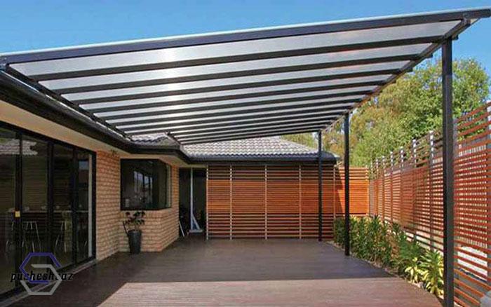 اجرای سقف پلی کربنات